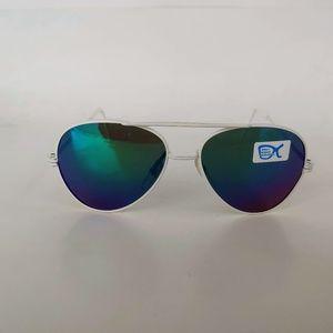 Vintage 90's Kids Aviator Metal Sport Sunglasses